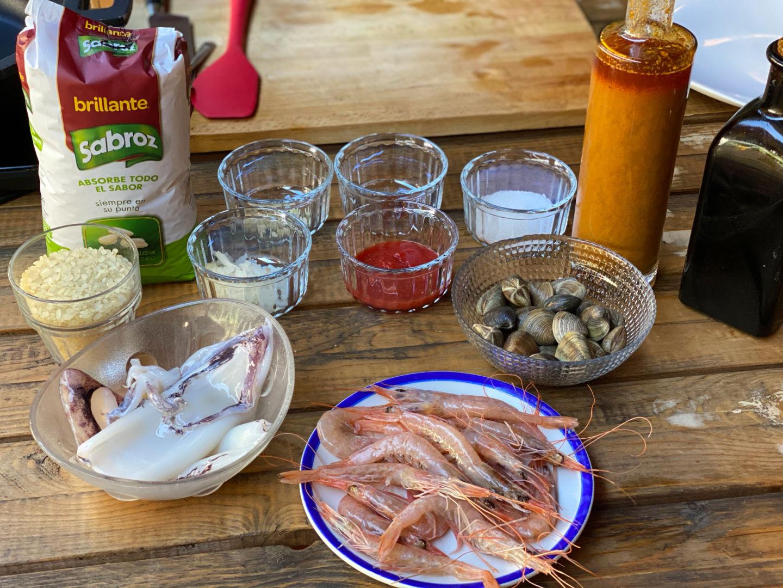 Ingredientes para preparar una paella fácil