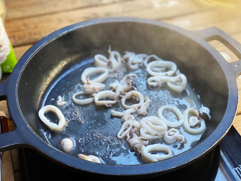 añadimos los calamares