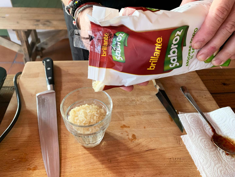 añadimos el arroz brillante sabroz