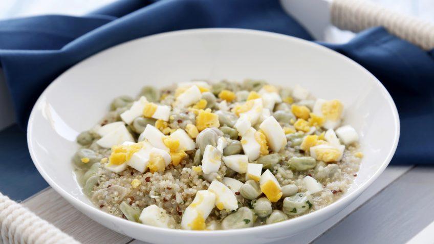 Menestra de habas y quinoa