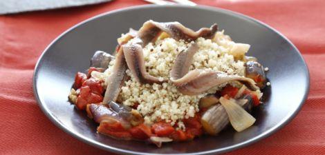Escalibada de quinoa con anchoas