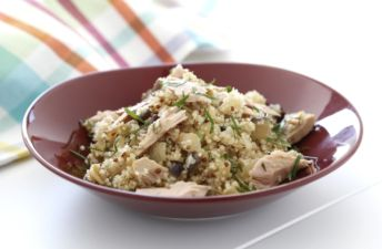 Quinoa con berenjenas y atún