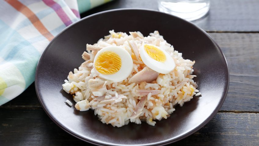 Ensalada de arroz Basmati cubana