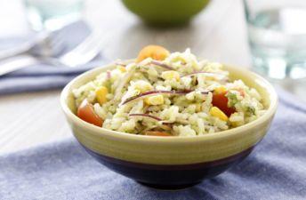 Ensalada de arroz Basmati y guacamole
