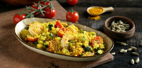 Cous cous con langostinos