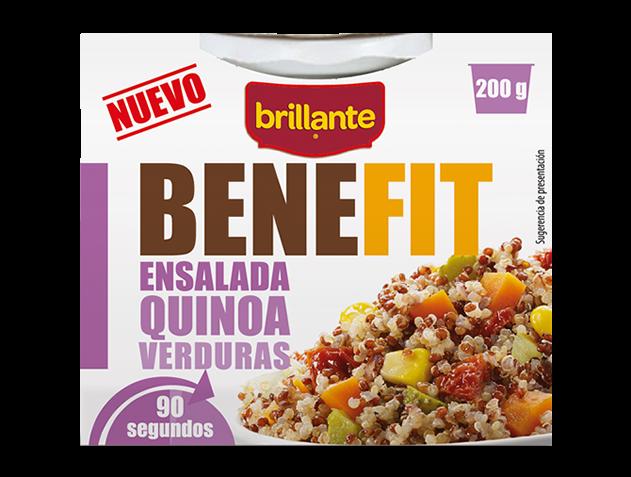 Brillante Benefit ensalda quinoa y verduras