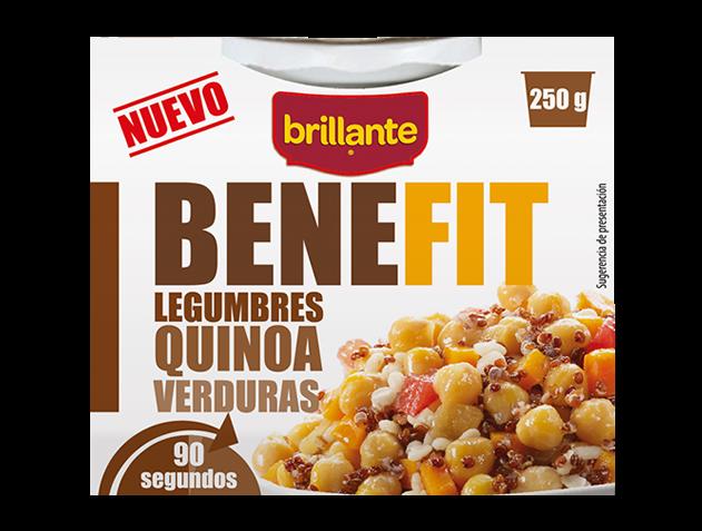 Brillante Benefit legumbres quinoa y verduras