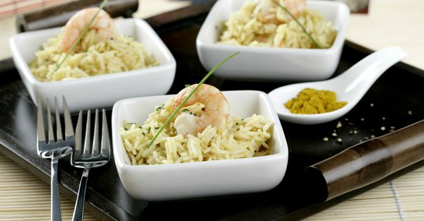 Arroz al Curry con Gambas – Recetas de Arroz Largo Brillante