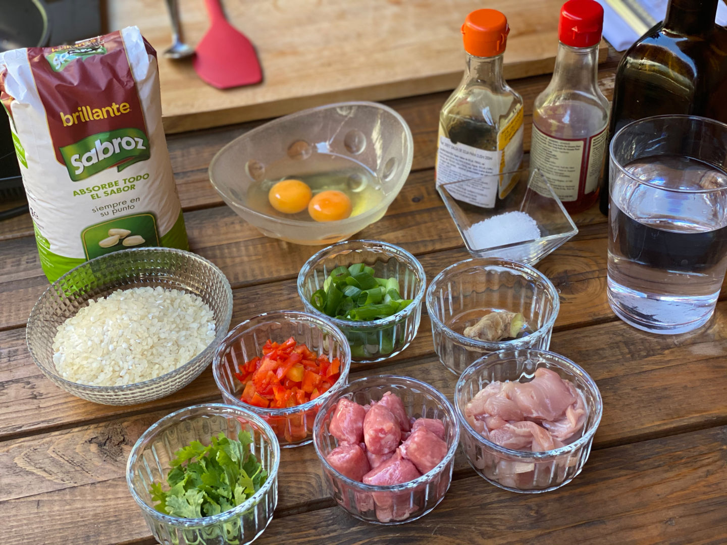 Ingredientes para arroz chaufa