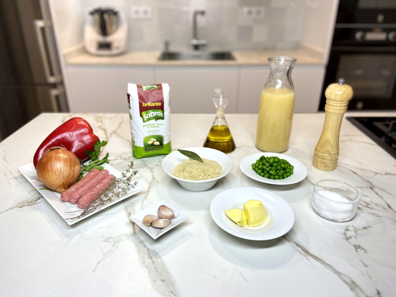 ingredientes para Arroz a la griega