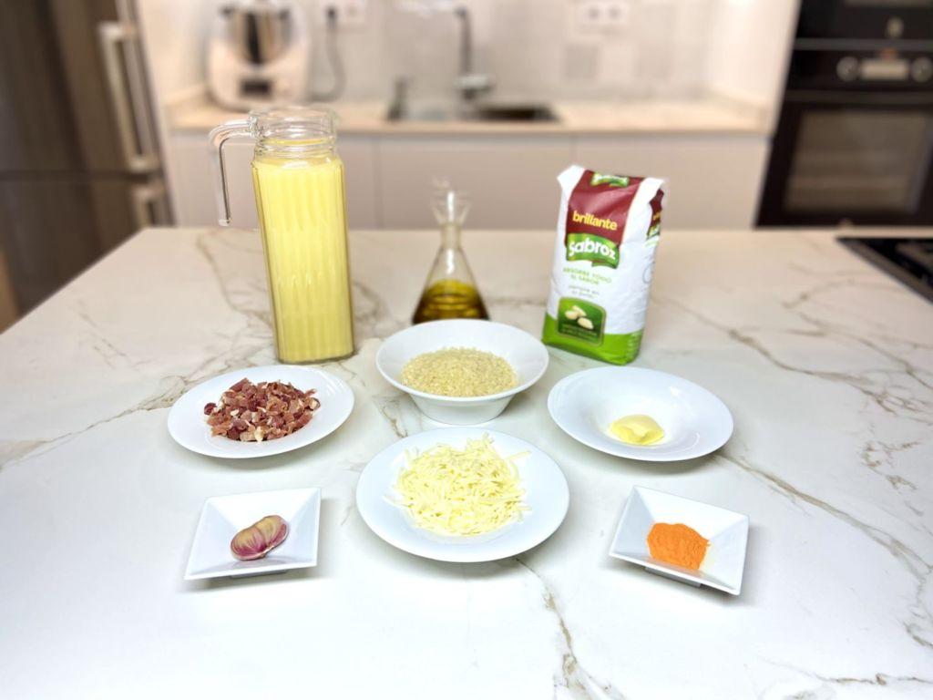 ingredientes para Arroz a la milanesa
