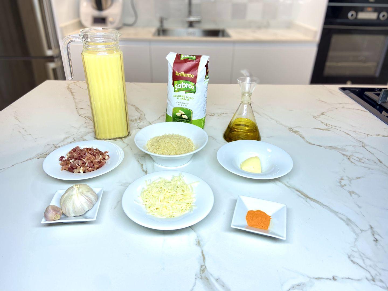 Ingredientes para Arroz a la milanesa con jamón
