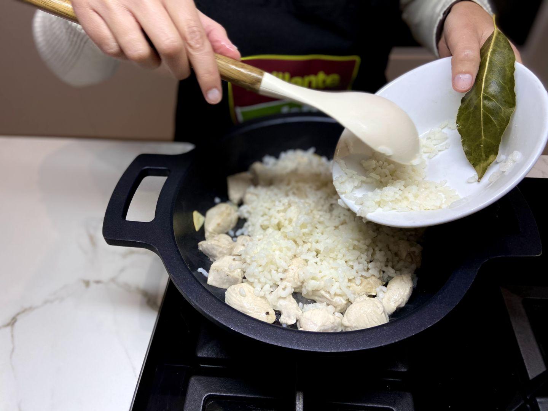 añadimos el arroz cocido