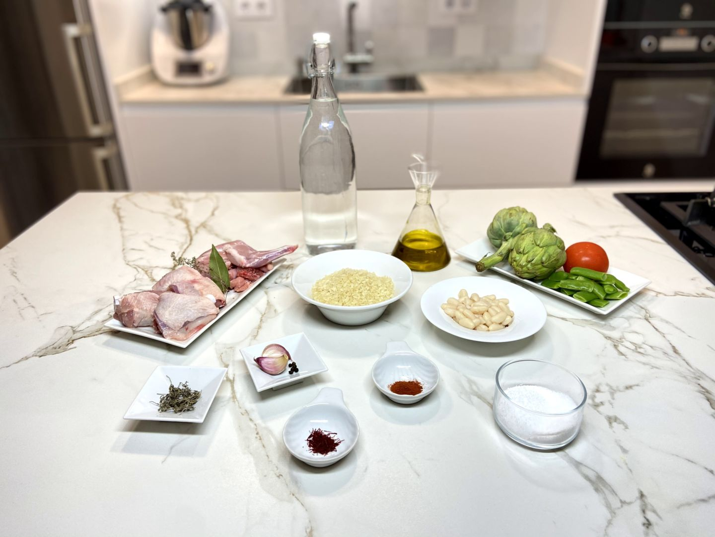 ingredientes para arroz al horno