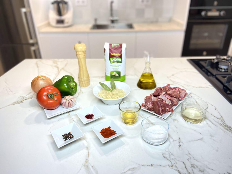 ingredientes para Arroz caldoso con carrillada