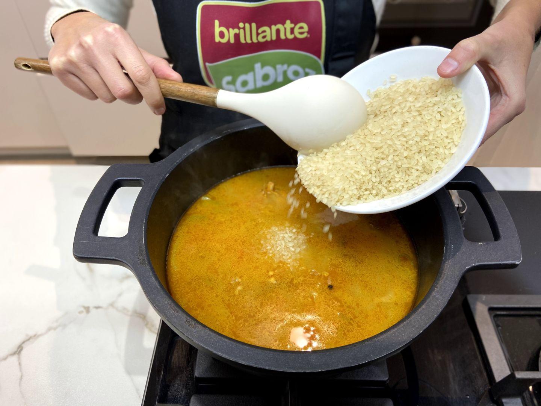 añadimos el arroz