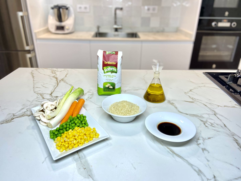 ingredientes para arroz cantonesa
