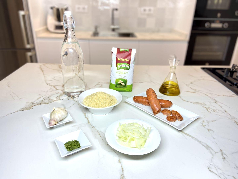 ingredientes para Arroz con Chorizo