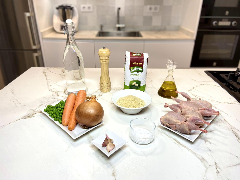 ingredientes para arroz con codornices