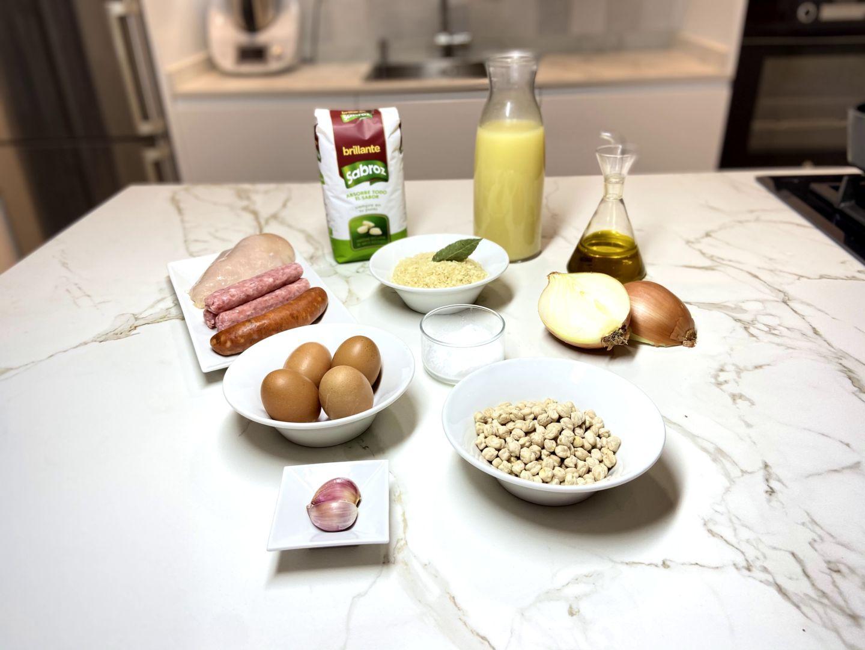 ingredientes para Arroz con costra al estilo de Elche