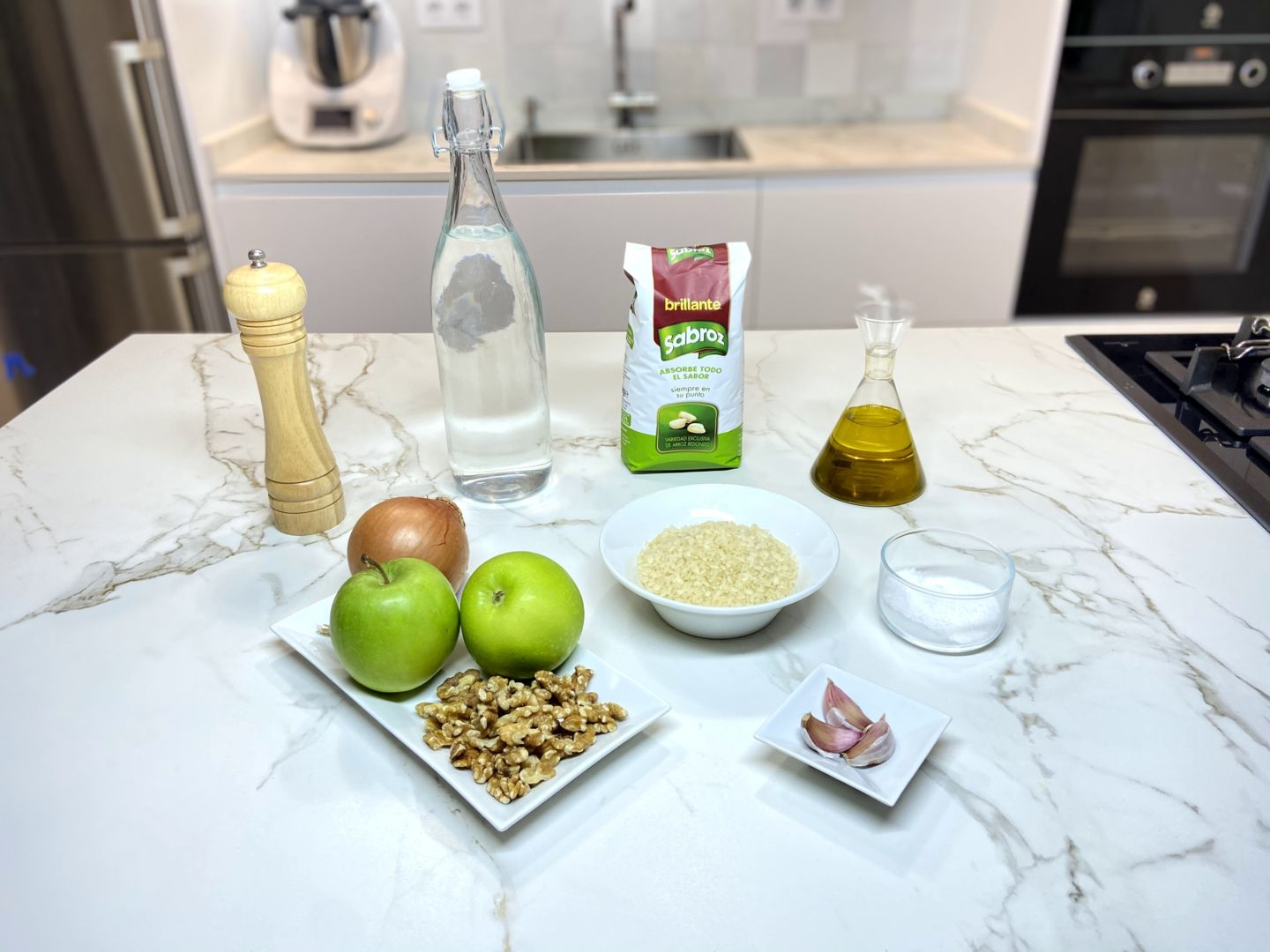 ingredientes para arroz con manzana