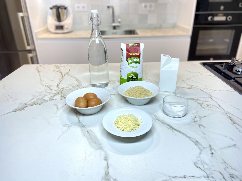 ingredientes para arroz con queso
