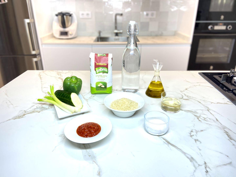 ingredientes para arroz con verduritas