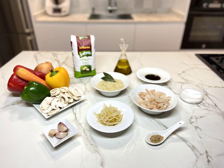 ingredientes para arroz estilo oriental