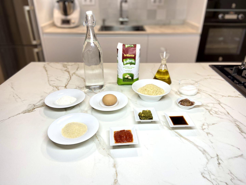 ingredientes para bombas de arroz