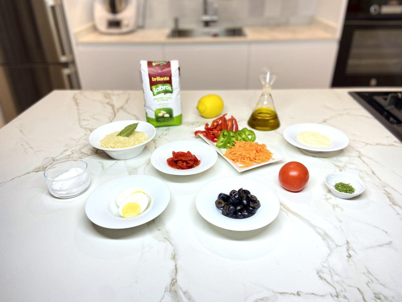 ingredientes para Ensalada de arroz con mayonesa