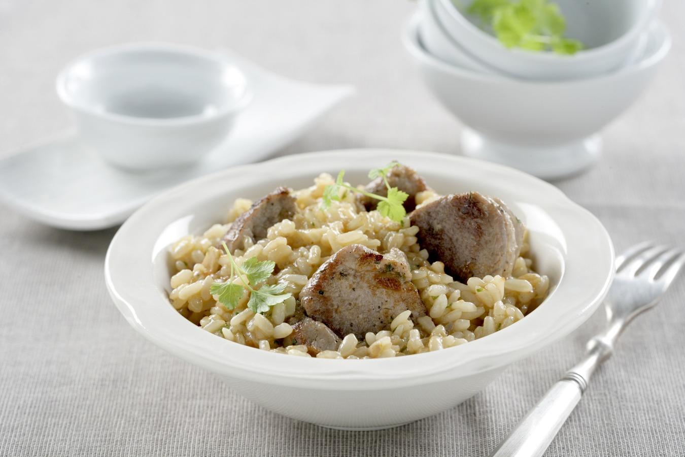 Solomillo con arroz