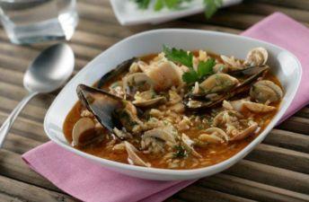 Sopa de marisco – Recetas de arroz Brillante Sabroz