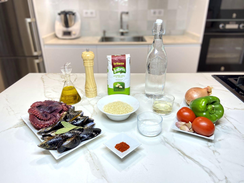 ingredientes Meloso de pulpo y mejillones