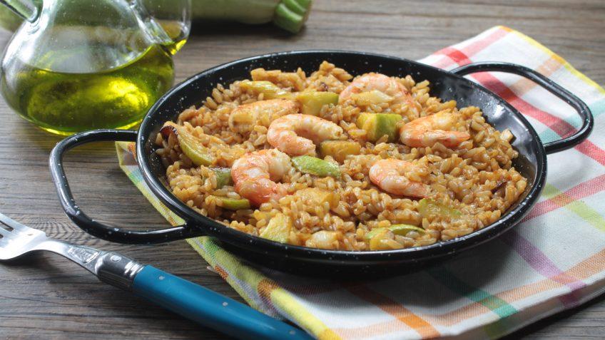 Paella integral casi vegetariana