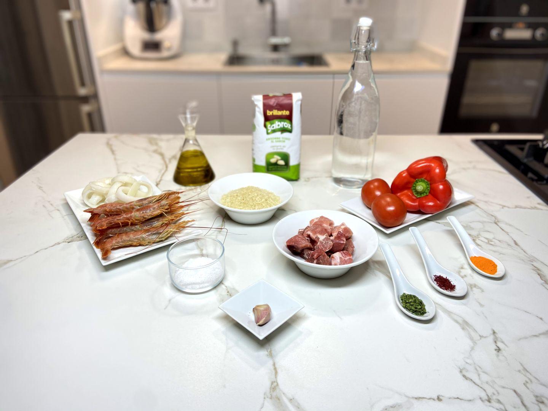ingredientes para paella mixta a mi estilo