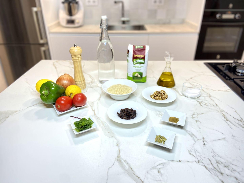 ingredientes para Parranda de arroz con verbena de verduras a la menta fresca