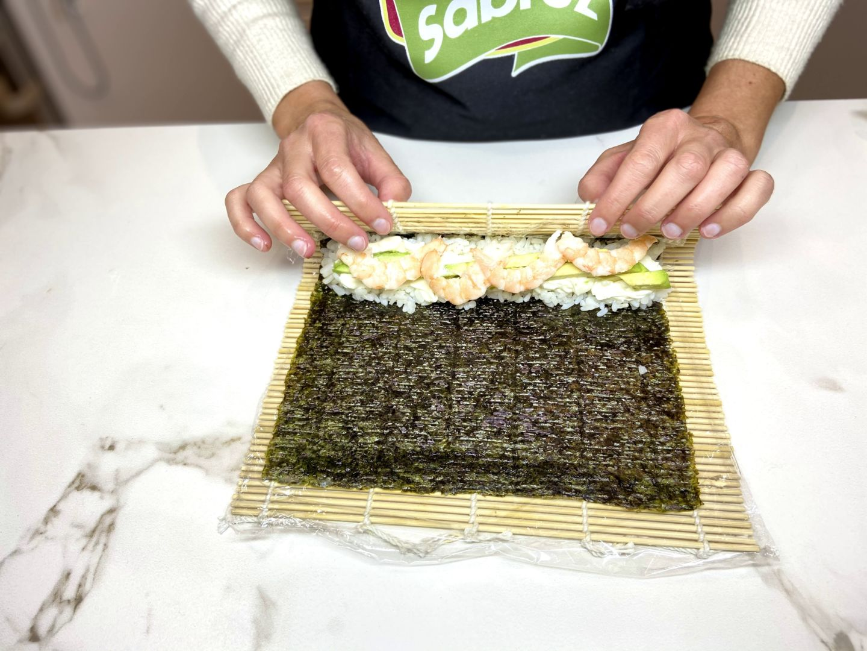enrollamos el sushi