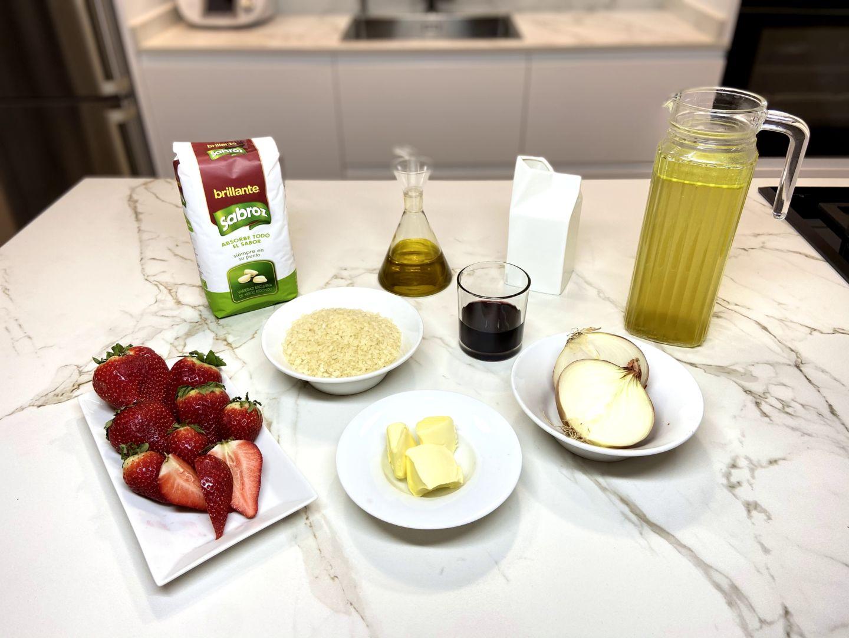 ingredientes para Risotto de Fresas