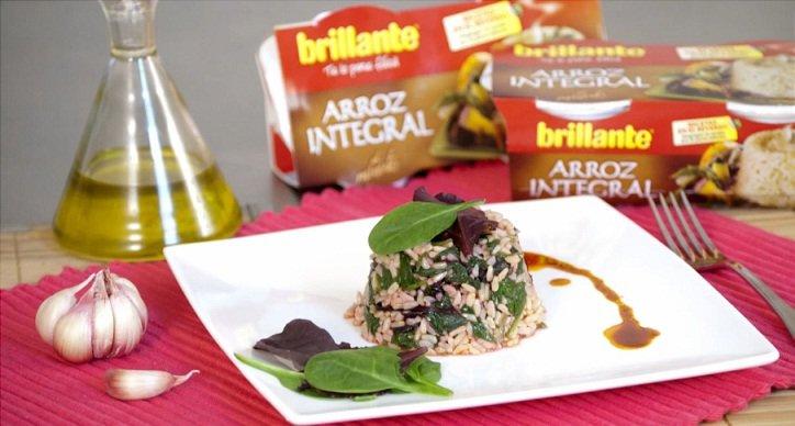 Salteado de verduras con arroz integral