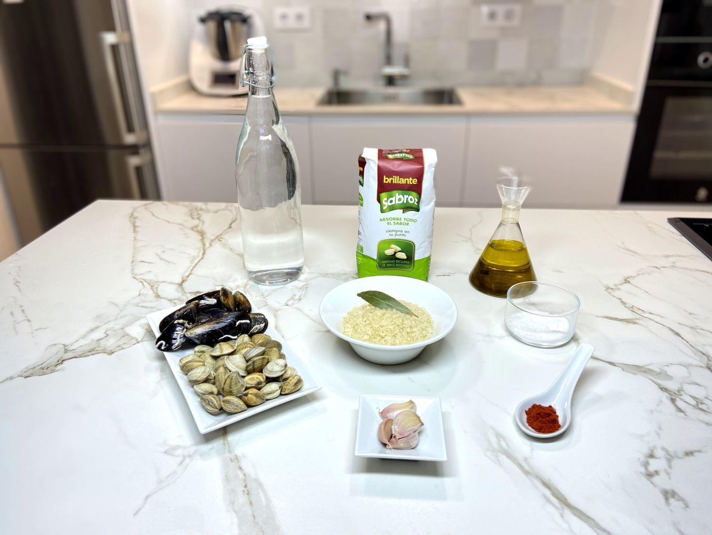 ingredientes para Sopa de marisco