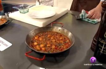 Arroz con pulpo y verduras