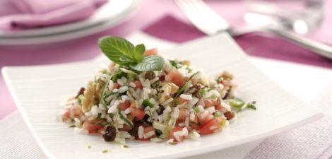 Parranda de arroz con verbena de verduras a la menta fresca