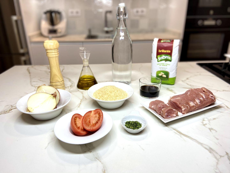 ingredientes para solomillo con arroz
