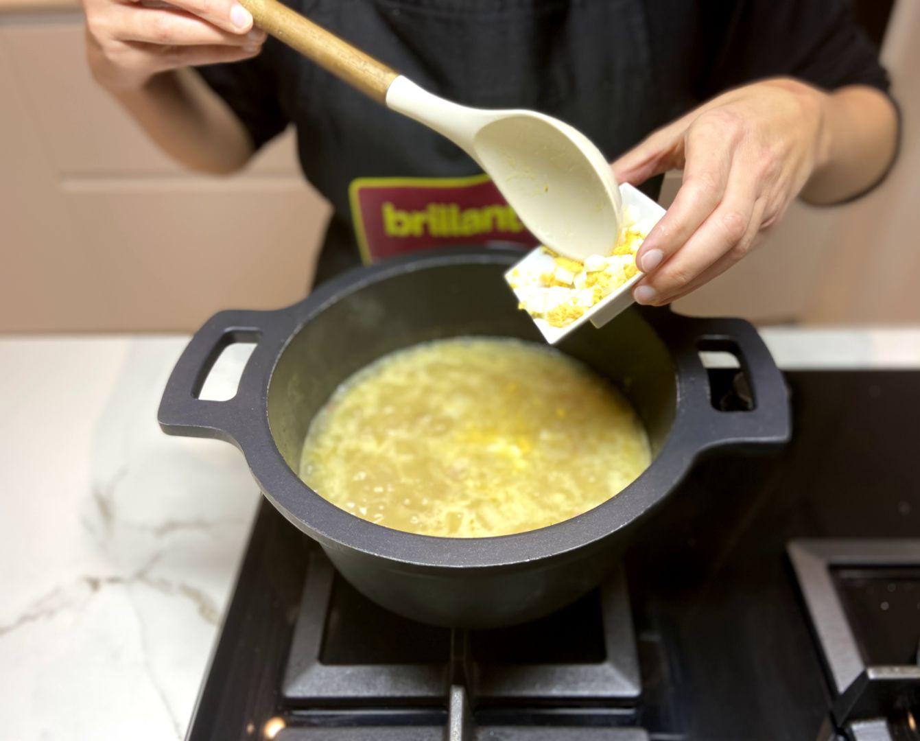 agregamos el huevo picado