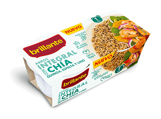 Arroz integral con chía