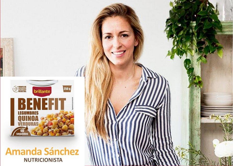 La nutricionista Amanda Sánchez y Brillante Benefit