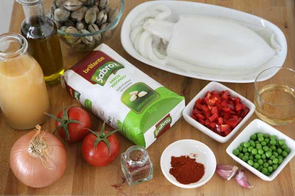 Ingredientes para hacer arroz caldoso