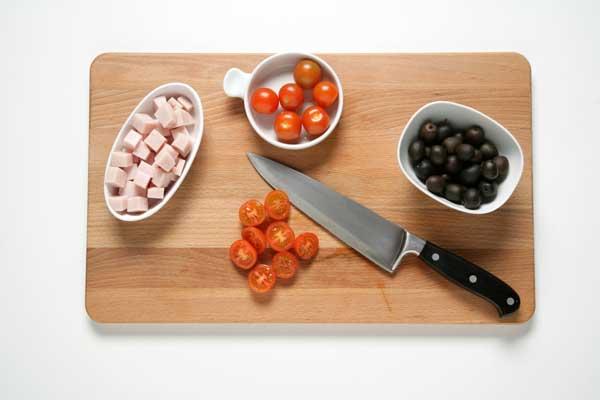 tomates y pavo