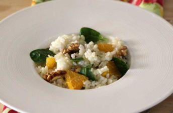 Ensalada de arroz y frutos secos