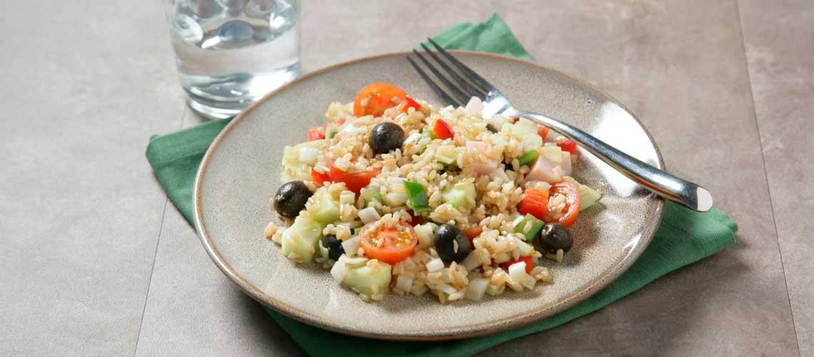 Receta de ensalada de arroz integral de poli delicious - Ensalada de arroz light ...